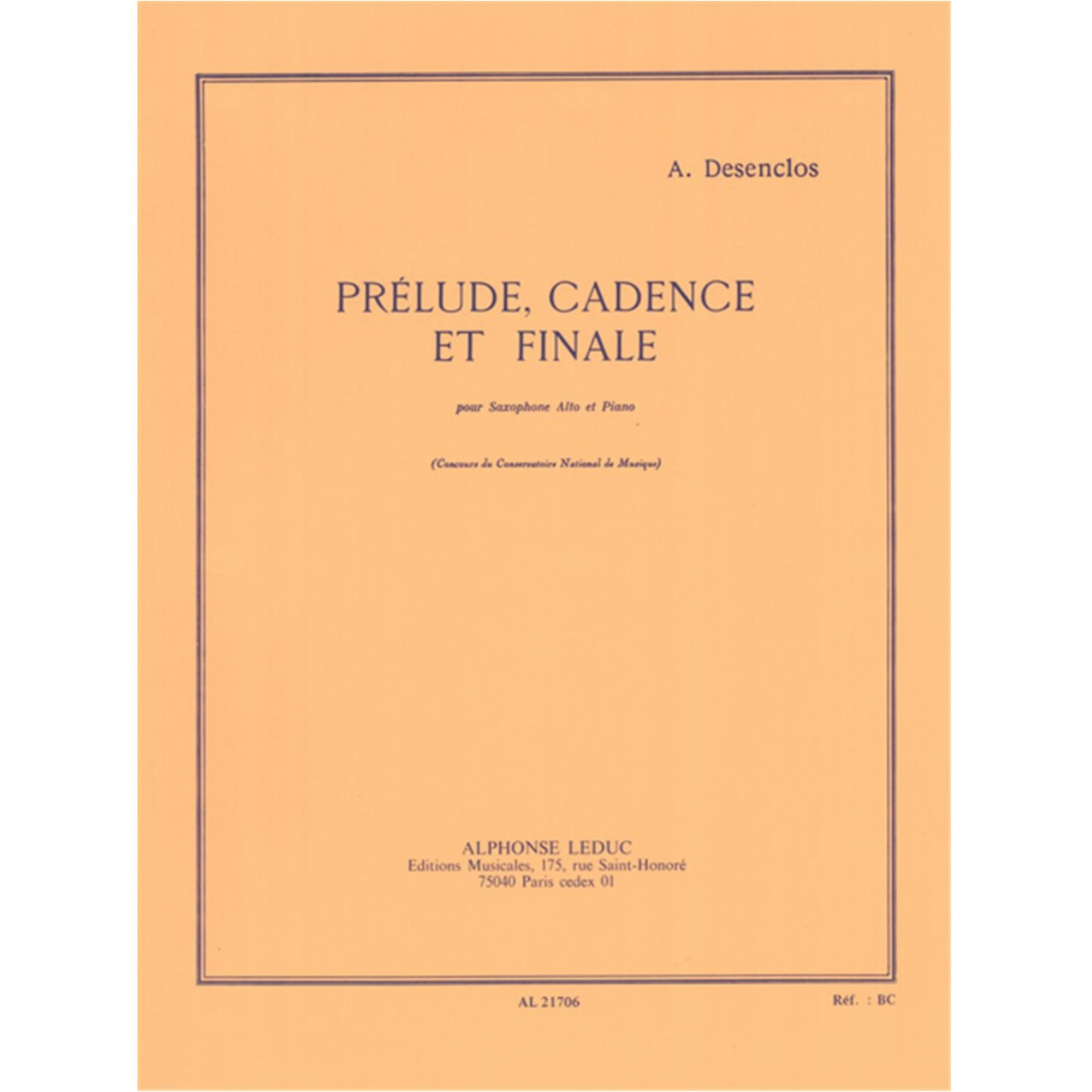 Prelude Cadence et Finale altsax & piano